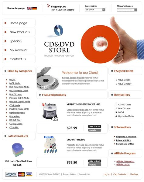 dvd store cre loaded template 16451