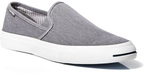 purcell slip on sneakers converse purcell slip on sneakers in gray for lyst
