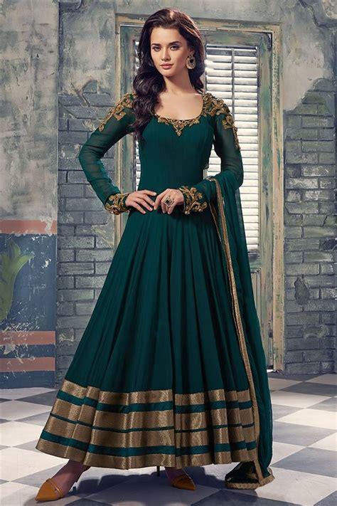 Anarkali Dressbaju Indiadress 39 buy green woven georgette semi stitched salwar with dupatta