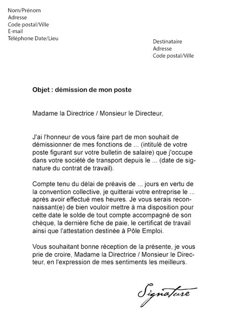 Exemple De Lettre De Motivation Transport Lettre De D 233 Mission Transport Routier Mod 232 Le De Lettre