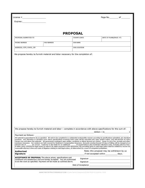 consulting estimate template free print contractor forms construction