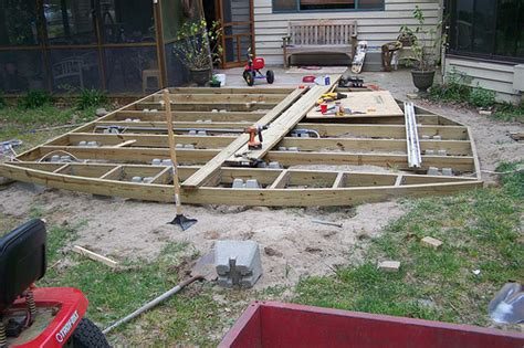 building a ground level deck correct way to build ground level deck doityourself