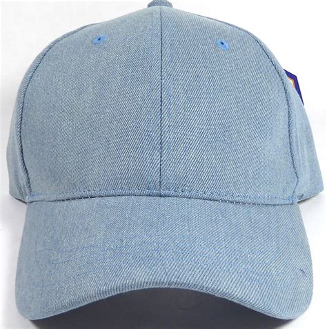 wholesale denim baseball caps blank jean hats in bulk
