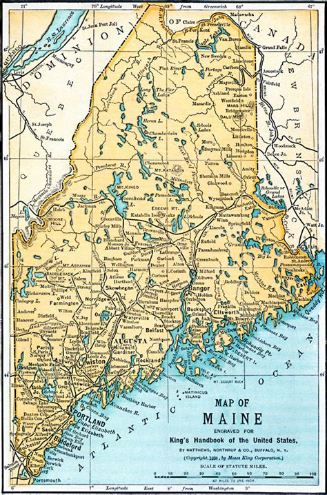 detailed map of maine maine
