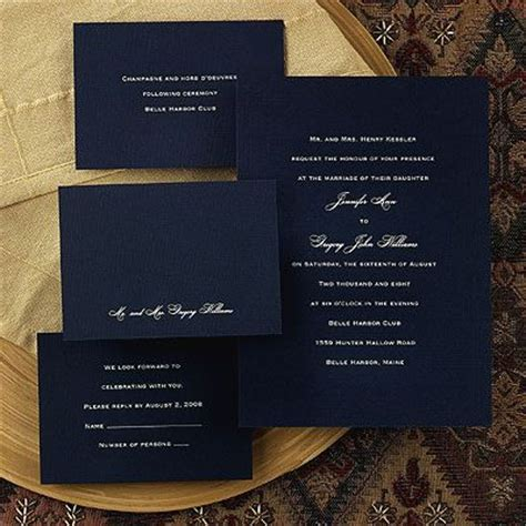 navy white and silver wedding invitations invitation idea navy wedding inspiration