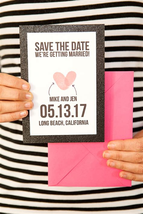 how to make your own save the date cards make your own thumbprint save the dates