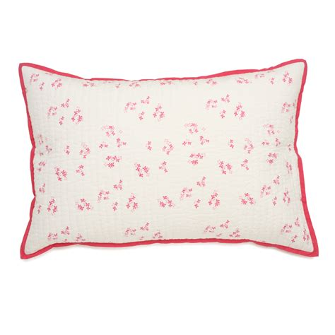 Pillow Sham by Pretty With Pink Quilted Pillow Sham By Auggie