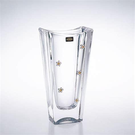 vasi di cristallo vaso rettangolo in cristallo boemia e argento 800 ooo