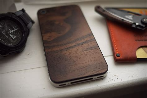 Handmade Chagne Glasses - material6 custom wood iphone 4 backs replace glass with