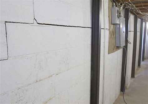 basement foundation crack repairs in vermont cracked
