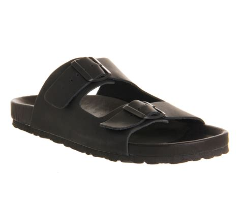 mens buckle sandals mens office marbella buckle sandal black mono leather sandals