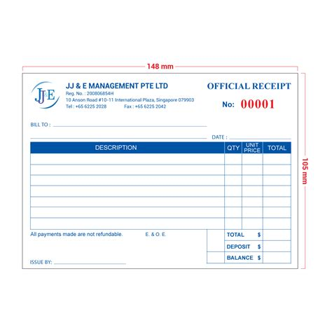 A6 Receipt Book Template by Invoice Receipt Book A6 100 Books Jj E