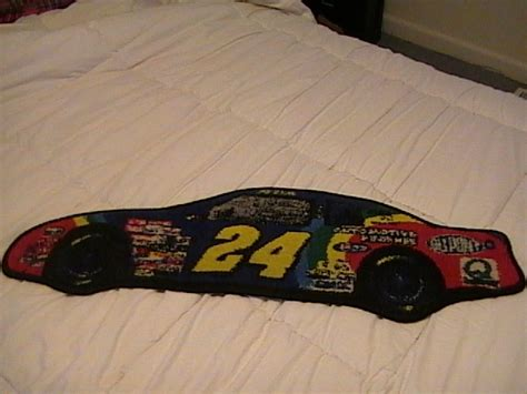 car shaped rug jeff gordon 24 du pont car shaped rug