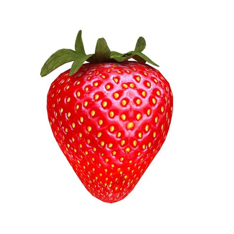 3d 3 Strawberry 3ds max strawberry fruit fresh