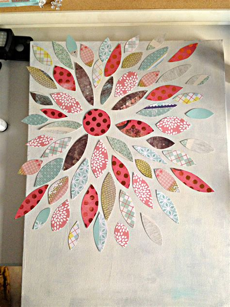 Owl Wall Mural summer crafting day 12 paper flower canvas art me amp my