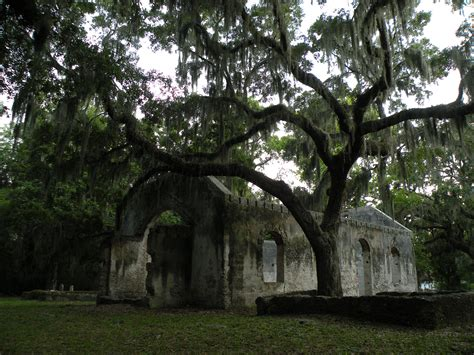 Beaufort County Sc Records File St Helena Parish Chapel Of Ease Ruins Beaufort County Sc Jpg Wikimedia Commons