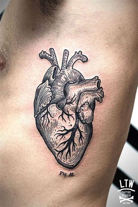 realistic heart tattoo designs realistic design shortlist