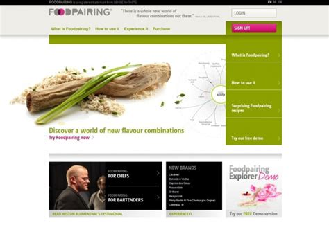 Website Of The Week Food Pairing by Food Pairing Mybites
