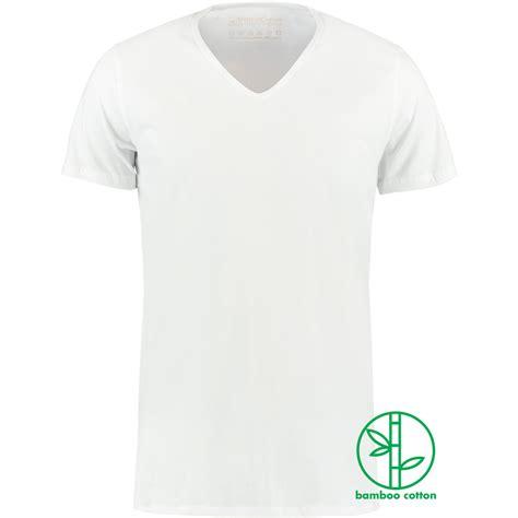 T Shirt Catton 32s white bamboo cotton v neck t shirt shirtsofcotton