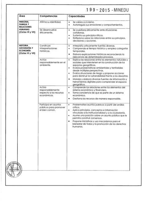 Diseño Curricular Por Competencias Minedu Dise 241 O Curricular Nacional Modificado Por Rm 199 2015 Minedu