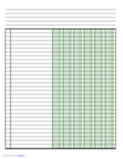 Columnar Pad Paper 63 Free Templates In Pdf Word Excel Download Columnar Pad Template For Excel