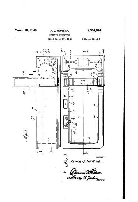 bathtub structure patent us2314044 bathtub structure google patents