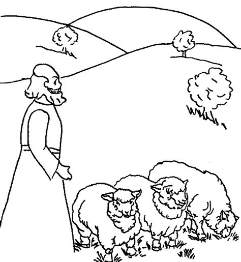 hagar and ishmael in the wilderness coloring sheet