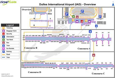 washington dc terminal map image gallery iad map