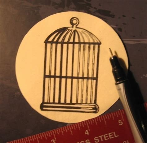 Illusion Papercraft - bird cage optical illusion 183 how to make a 183