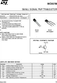 bc557b transistor datasheet bc557b datasheet small signal pnp transistor