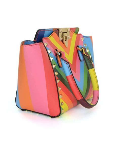Rt Multi Colour 4 valentino multi colored rainbow micro mini rockstud