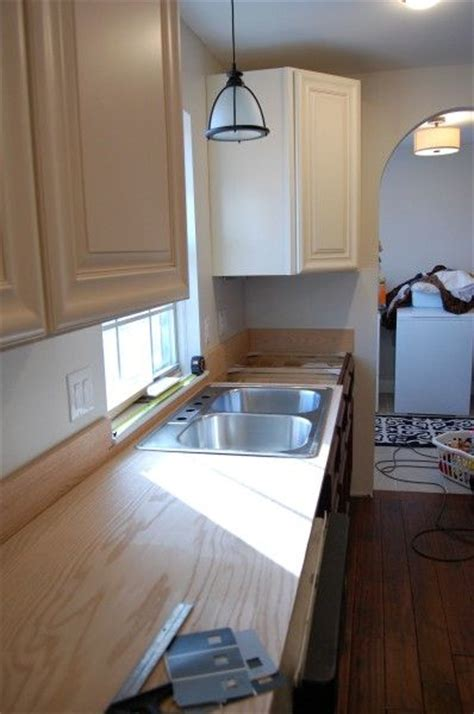 Plywood Countertop Finish by Plywood Plywood Kitchen And Kitchen Sink Window On