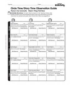 class assessment template best photos of sle preschool observation forms