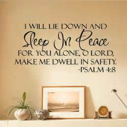 Lettering Stickers For Walls sleep in peace bible verse wall stickers quote lettering