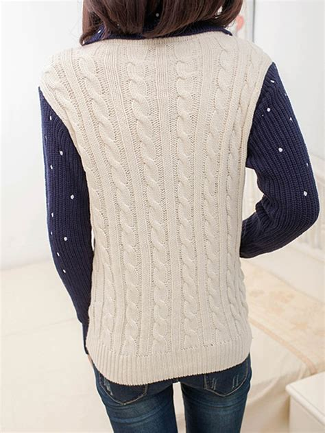 Patchwork Sweater - polka dot patchwork sweater gonchas