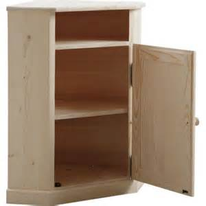 aubry gaspard meuble d angle en bois brut pas cher achat