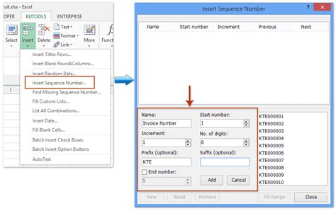 how to automatically generate invoice number in excel