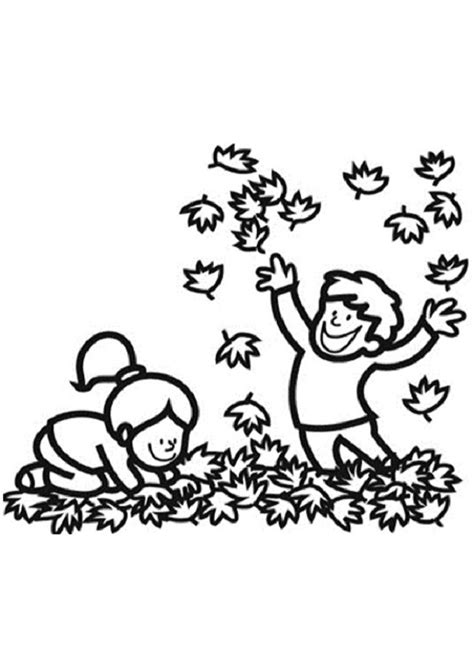 imagenes de niños jugando con hojas de otoño el otoo para nios best dibujo de nios en otoo imgenes de