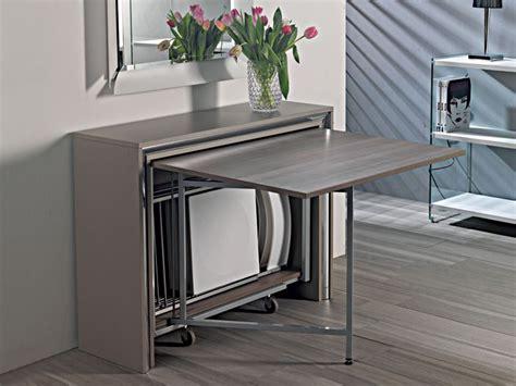 tavoli pieghevoli con sedie incorporate archimede c consolle con tavolo pieghevole 170 x 90 cm