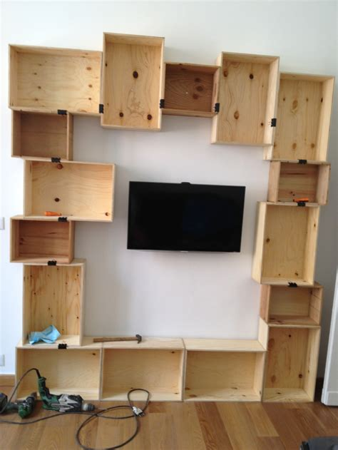 Craft Shelf by Diy Craft Wine Boxes Bookshelf Just Completed Library