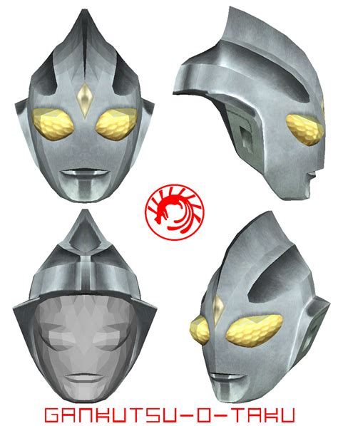 printable ultraman mask ultraman tiga pepakura mask by gankutsu o taku on deviantart