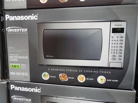 Microwave Panasonic panasonic 1 6 cu ft stainless steel inverter microwave oven