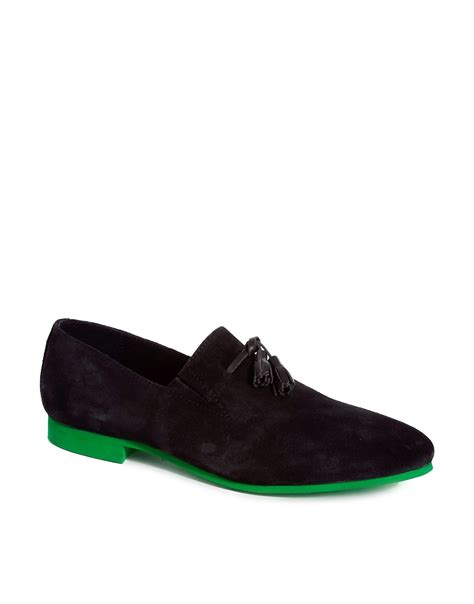 house of hounds shoes house of hounds house of hounds suede tassle dress slippers at asos