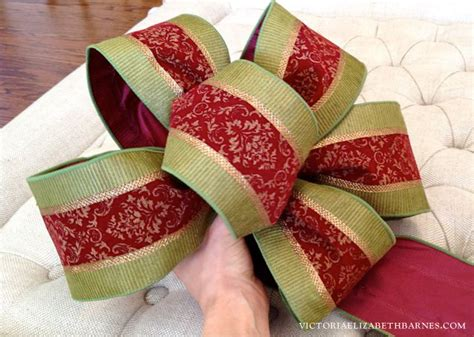 how to make bows for top of christmas tree how to make a bow step by step for decorating and wreaths hometalk