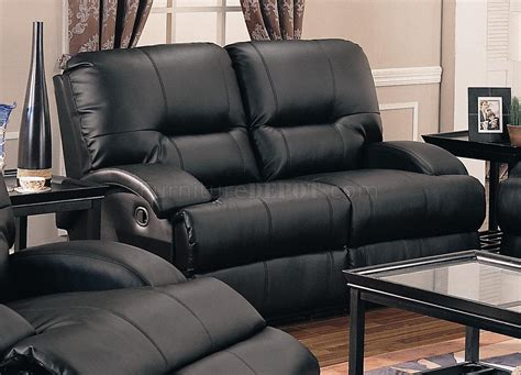 black bonded leather casual motion sofa set living room black bonded leather motion living room sofa w options