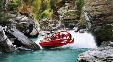 shotover jet boat ride queenstown nz shotover jet new zealand backpacking travel guide by stray
