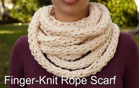 finger knitting a scarf finger knitting scarf pattern a knitting