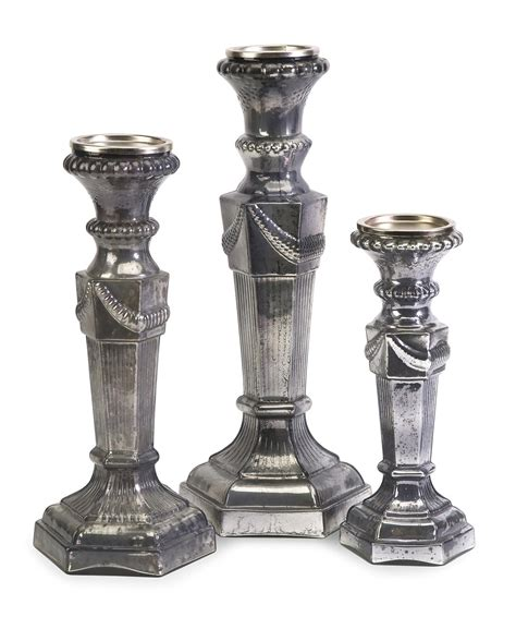 3 Glass Candle Holders Imax Forney Glass Candle Holders Set Of 3 84763 3
