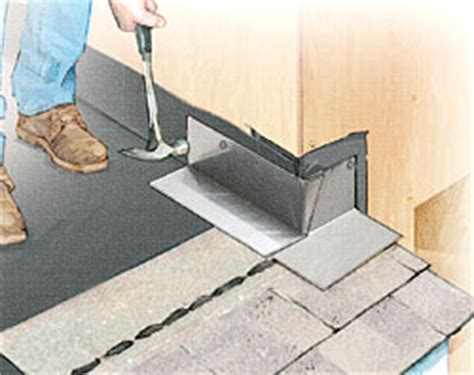 installing steel roofing fine homebuilding installing step flashing fine homebuilding