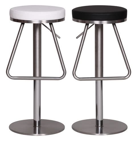 Stainless Steel Bar Stools Swivel by Bar Stool Stainless Steel Brushed Faux Leather Swivel